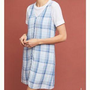 [CLOTH + STONE] Blue Plaid Button Down Dress